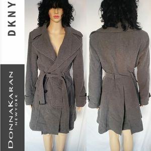 DKNY ladies gray peacoat